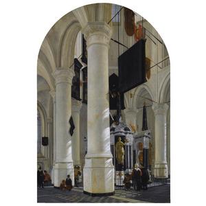 Interieur van de Nieuwe Kerk in Delft met de graftombe van Willem de Zwijger