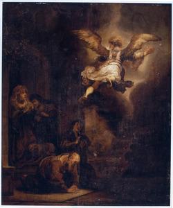 De engel Raphaël vertrekt van Tobias en zijn familie (Tobias 12:21-22)