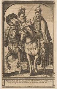 Ruiterportret van Albrecht van Habsburg (1559-1621) en Isabella van Habsburg (1566-1633)