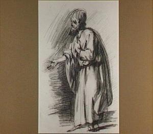 Staande bijbelse figuur, naar links