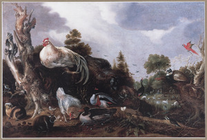 Landschap met Orpheus spelend voor de dieren