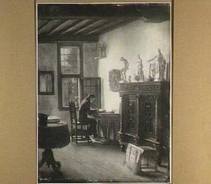 Zelfportret in atelier