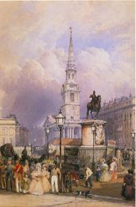 Karel I standbeeld op Charing Cross