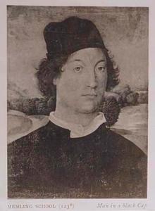 Portret van een man met een brief in de linkerhand