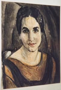Portret van mevrouw V. (voorstudie)
