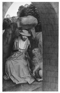 H. Hieronymus verwijdert een doorn uit de poot van de leeuw