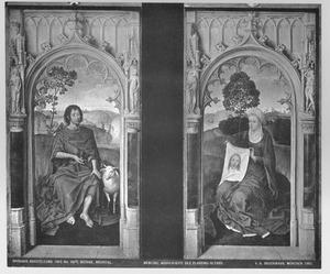 De H. Johannes de Doper (links), de H. Veronica (rechts) (De Floreins-triptiek)