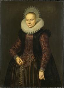 Portret van Brechtje Overrijn van Schoterbosch (1592-1618)