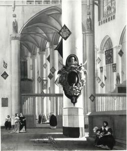 Kerkinterieur met elementen van de Pieterskerk en de Hooglandse kerk te Leiden
