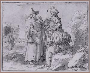 Zigeuners in een landschap