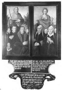 Memorietafel met portret van de familie van Neck