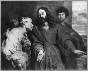 Christus geneest de verlamde, ' Neem uw bed op en wandel '