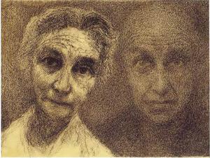 Zelfpotret met zijn echtgenote Lien Bendien (1889-1961)
