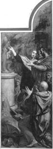 De vernietiging van de afgodsbeelden die de H. Joris weigerde te aanbidden