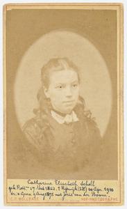 Portret van Catharina Elisabeth Scholl (1853-1910)