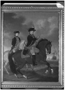 Dubbelportret van Willem V van Oranje- Nassau (1748-1806) en zijn zoon Willem Frederik (1772-1843), later koning Willem I