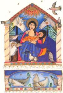 Geboorte van Christus, illustratie uit 'Story of Christmas