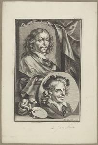 Portretten van Frans van Mieris I (1635-1681) en Jan Steen (1625-1679)