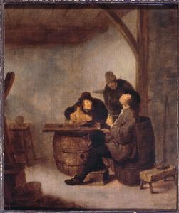 Drie mannen in een herberg