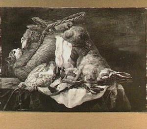 Kat bij buit van haas en gevogelte