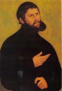 Portret van Maarten Luther als Junker Jörg