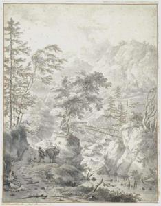 Een ruiterpad door de bergen