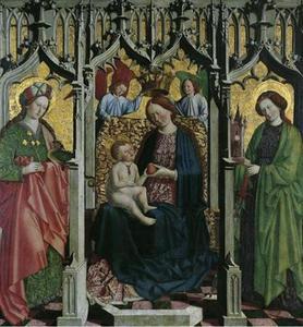Tronende Maria met kind en de HH. Barbara en Margareta