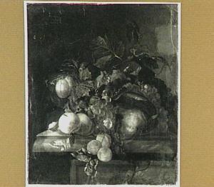 Vruchtenstilleven op marmeren tafelblad