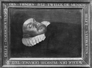 Doodsbedportret van Willem I 'de Zwijger' van Oranje-Nassau (1533-1584)