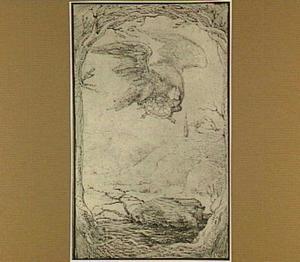 Illustratie van de fabel van Adelaar en de schildpad (Aesopus Fabel 61)