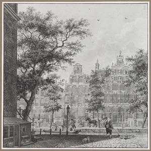 De Herengracht in Amsterdam gezien vanaf de Driekoningenstraat