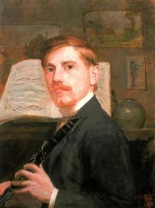 Zelfportret met klarinet