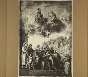 De HH. Rochus, Stephanus, Laurentius en Elisabeth bij het verdelen van aalmoezen