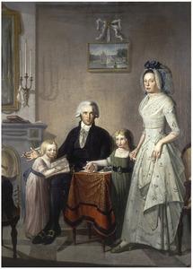Familieportret van Hendrik Louis Wychgel van Lelle (1757-1830) en Hermanna van Gesseler (1757-1797) met hun dochters