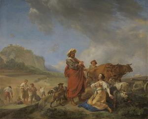 Ruth en Boaz in gesprek  (Ruth 2:5-13)
