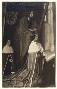 Koning Jacob III van Schotland, zijn zoontje Jacob en de Heilige Andreas
