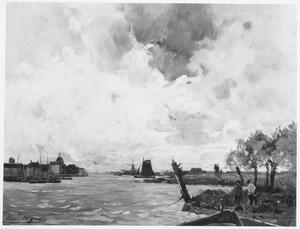 Hollands rivierlandschap bij Dordrecht