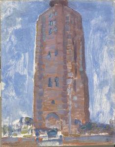 Lighthouse at Westkapelle in brown