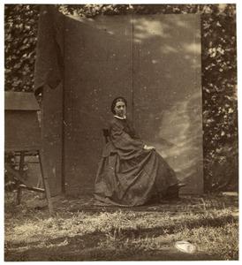 Zelfportret van Alexandrine Pieternella Francoise Tinne (1835-1869)