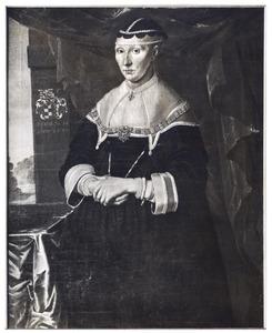 Portret van Karen Bille Marquardsdatter (1598-1670), vrouw van Falk Gøye Henriksen til Hvidkilde (1602-1653)