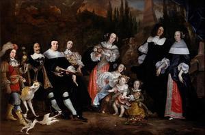 Portret van Michiel Adriaensz. de Ruyter (1607-1676) en zijn familie