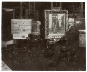 B.J. Blommers in zijn atelier