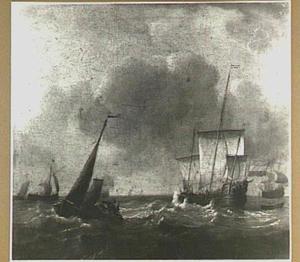 Fluitschip en smalschip op open water