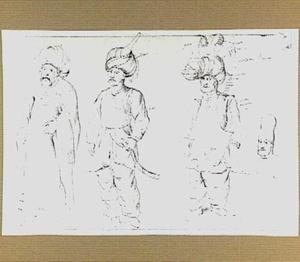 Vier figuren in Oosterse klederdracht
