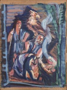 Zeus en Hermes bij Philemon en Baucis