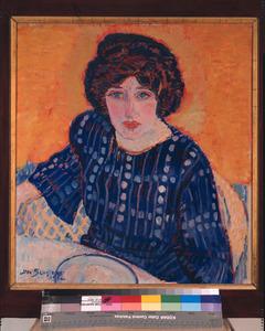 Portret van Greet, in blauw