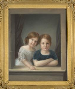 Dubbelportret van Emilie Marie Schimmelpenninck van der Oye (1910-1988) en Frans Arnold Leo Carel Schimmelpenninck van der Oye (1905-2001)