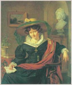 Portret van Carolina Frederica Kerst (1802-1883)