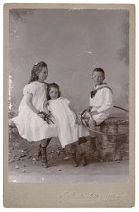 Portret van drie kinderen, waarschijnlijk Adriana Irwin Brown (1889-?), Nathaniel William Norman Irwin Brown (1890-?) en Aileen Ethel Isabel Irwin Brown (1892-1980)
