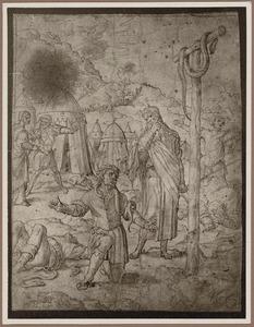 Al wie, gebeten is door een slang en opziet naar de door Mozes opgerichte Koperen Slang wordt genezen (Numeri 21:6-9)